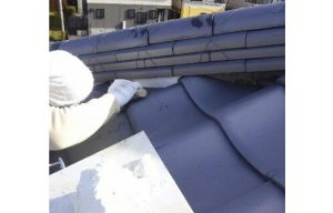 瓦屋根 漆喰補修