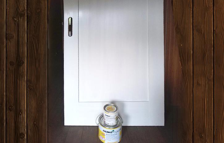 ドアの塗装(自然塗料:オスモカラー)